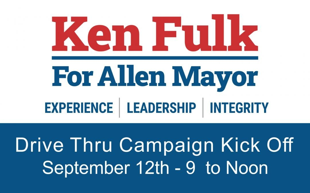 Ken Fulk for Mayor Drive Thru Campaign Kick Off Event